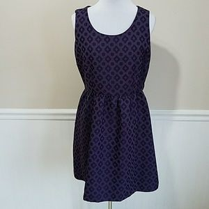 MSK Purple Diamond Dot Purple Dress